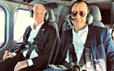 Στο Ισραήλ με ελικόπτερο AW139 της Πολεμικής Αεροπορίας ο Υπουργός Εξωτερικών   Φωτογραφίες