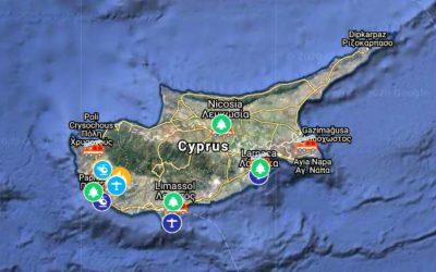 Μεγάλη κινητοποίηση για κατάσβεση των πυρκαγιών στην Επαρχία της Πάφου | Διαδραστικός Χάρτης