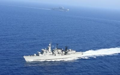 """France – Greece Joint Naval Drills   """"Limnos"""" Frigate in dominant position"""