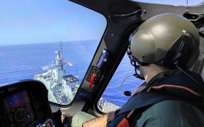 Πρώτη άσκηση μεταξύ της Εθνικής Φρουράς και του Βρετανικού Πολεμικού Ναυτικού – Φωτογραφίες