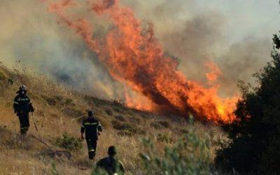 Πυρκαγιά εντός της νεκρής ζώνης – Εμπόδισαν τα πυροσβεστικά οχήματα οι κατοχικές αρχές