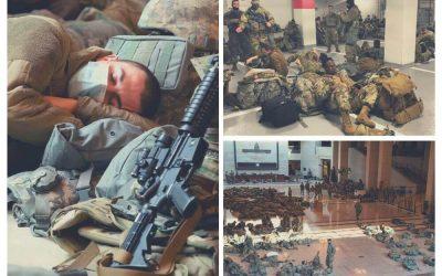 Εθνοφυλακή ΗΠΑ| Από τους διαδρόμους του Καπιτωλίου, σε υπόγεια πάρκινγκ – Τι είπε ο νέος πρόεδρος των ΗΠΑ για την απαράδεκτη εικόνα