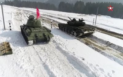 Το εμβληματικό άρμα μάχης Τ-34 σε αγώνες ενάντια στο Τ-72Β – VIDEO