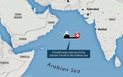Ιράν   Βομβαρδισμός ισραηλινού πλοίου στην Αραβική Θάλασσα – Φωτογραφίες