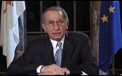 7 Απριλίου 2004 | Ο Παπαδόπουλος λέει «όχι» στο Ανάν – «Παρέλαβα κράτος διεθνώς αναγνωρισμένο. Δεν θα παραδώσω «κοινότητα» – VIDEO