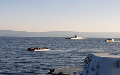 Harassment of a Hellenic Coast Guard patrol boat by Turkish coast guard boat – VIDEO