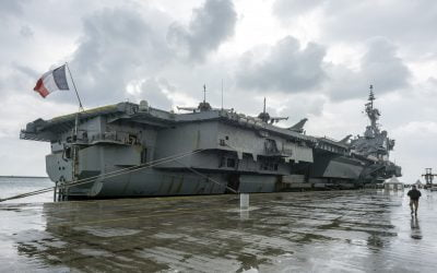 The French fleet flagship, Charles de Gaulle aircraft carrier in Limassol – Photo