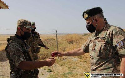 Η Ιεραρχία της Εθνικής Φρουράς δίπλα στο προσωπικό της – Φωτογραφίες