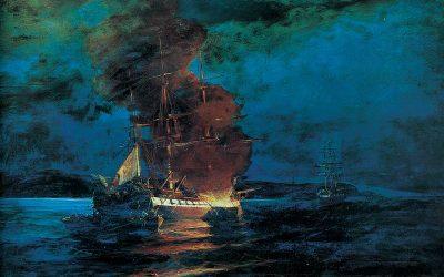 7 Ιουνίου 1822 | Η πυρπόληση της τουρκικής ναυαρχίδας από τον Κωνσταντίνο Κανάρη