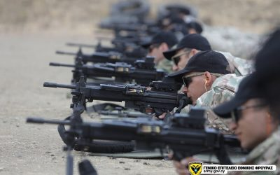 Εθνική Φρουρά | Καταιγισμός πυρών με τυφέκιο TAVOR και ελαφρύ οπλοπολυβόλο NEGEV – Φωτογραφίες