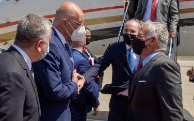 Τον Βασιλιά της Ιορδανίας υποδέχτηκε σήμερα ο Έλληνας ΥΠΕΞ