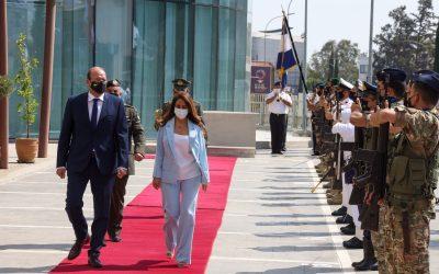 Επίσημη επίσκεψη Υπουργού Άμυνας, Εξωτερικών και Αναπληρώτριας Πρωθυπουργού του Λιβάνου