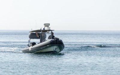 Turkish patrol boat fires warning shots against a Coast Guard vessel
