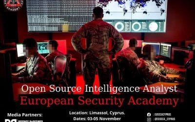 European Security Academy | Σεμινάριο OSINT στην Κύπρο
